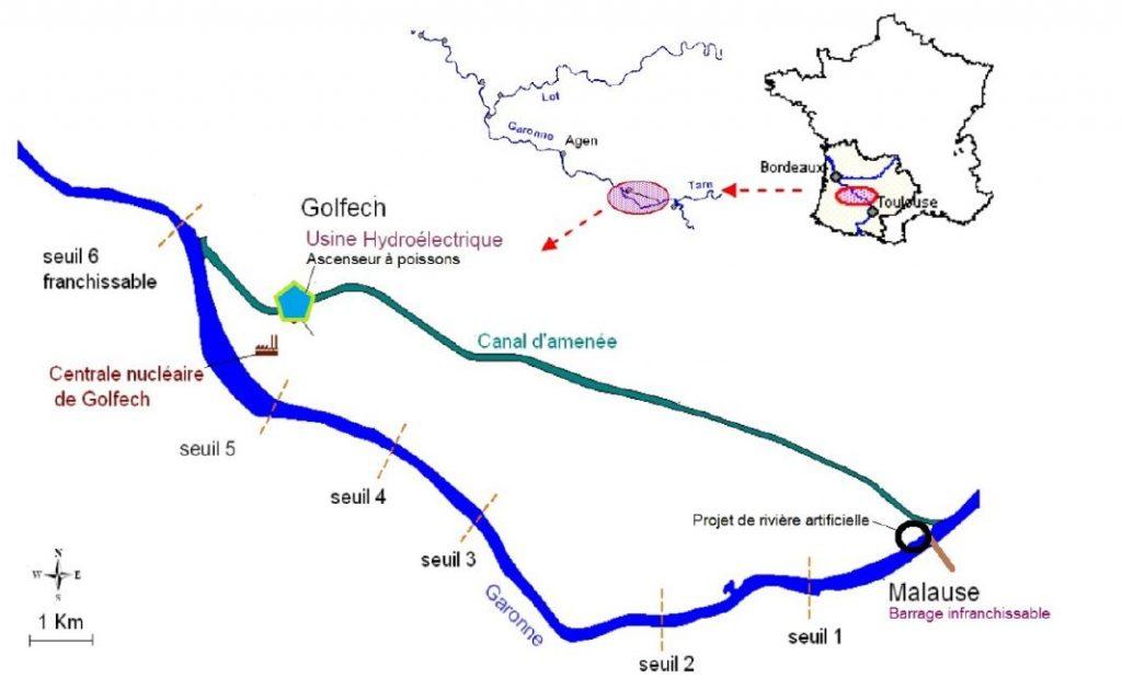 Plan Malause-Golfech