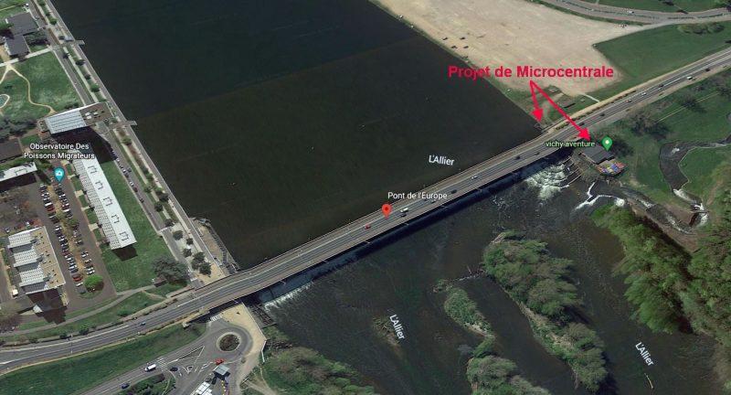 Pont de l 'Europe et barrage de Vichy.